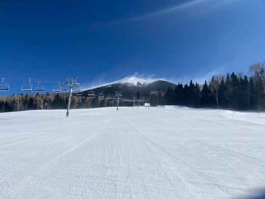 The lifts at Arizona Snowbowl Ski Resort near Flagstaff sit motionless on Feb. 25, 2020, amid high winds.