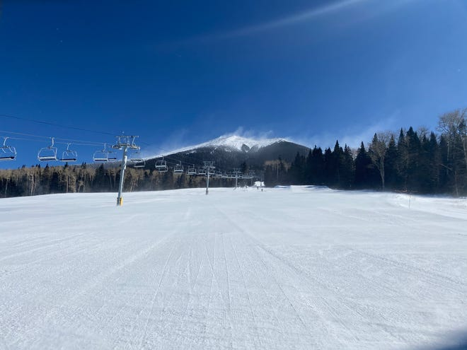The lifts at Arizona Snowbowl Ski Resort near Flagstaff sit motionless on Feb. 25, 2020, amid high winds.