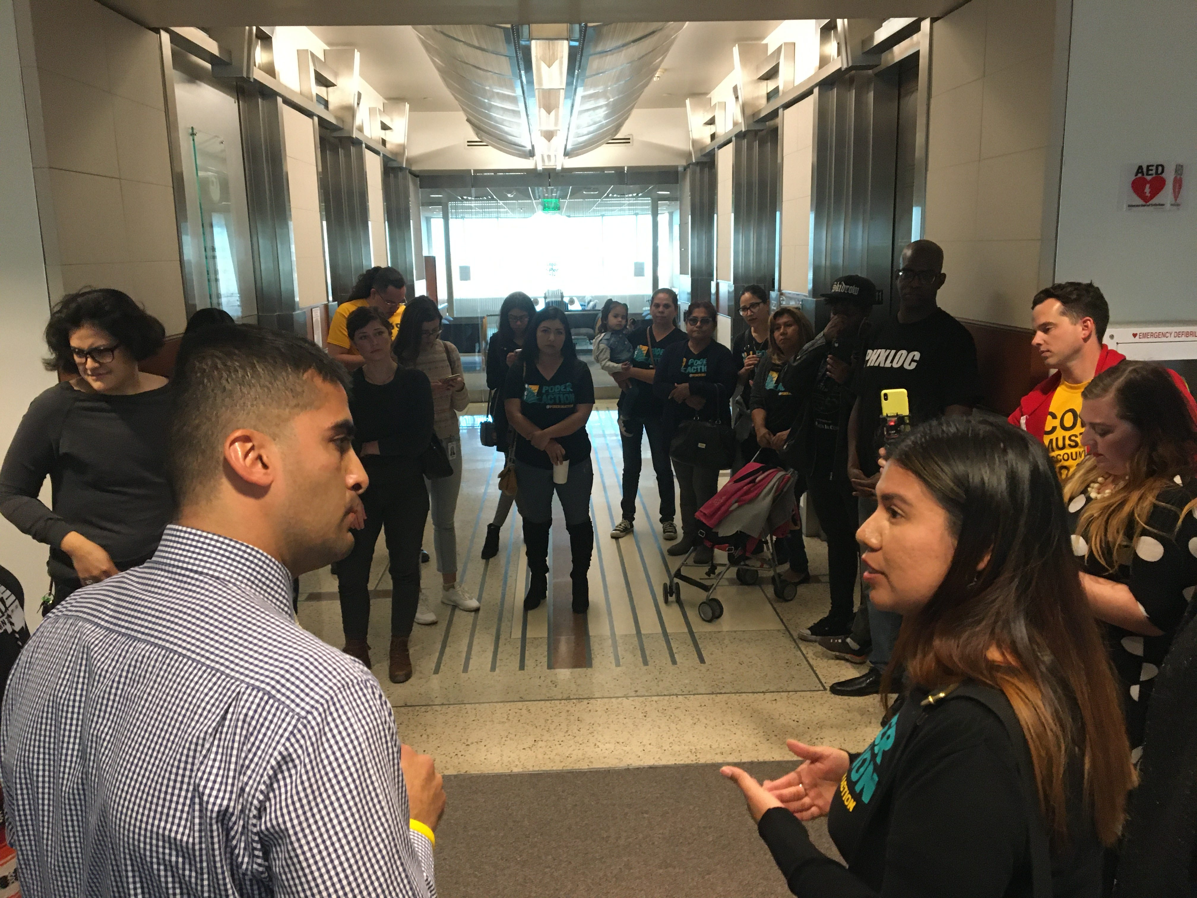 Activists hold conference at City Hall day before policing policies vote