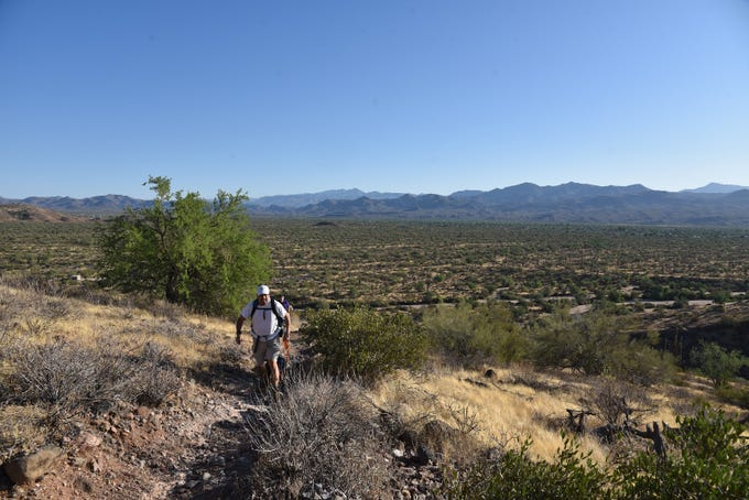 The Lousley Hill Trail makes a moderate climb with great views all around.