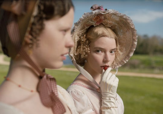 """Mia Goth as Harriet Smith and Anya Taylor-Joy  as Emma Woodhouse in director Autumn de Wilde's """"Emma."""""""