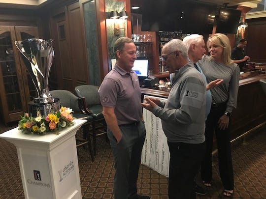 Jeff Maggert (purple) is the defending champion of the Charles Schwab Cup Championship event at Phoenix Country Club