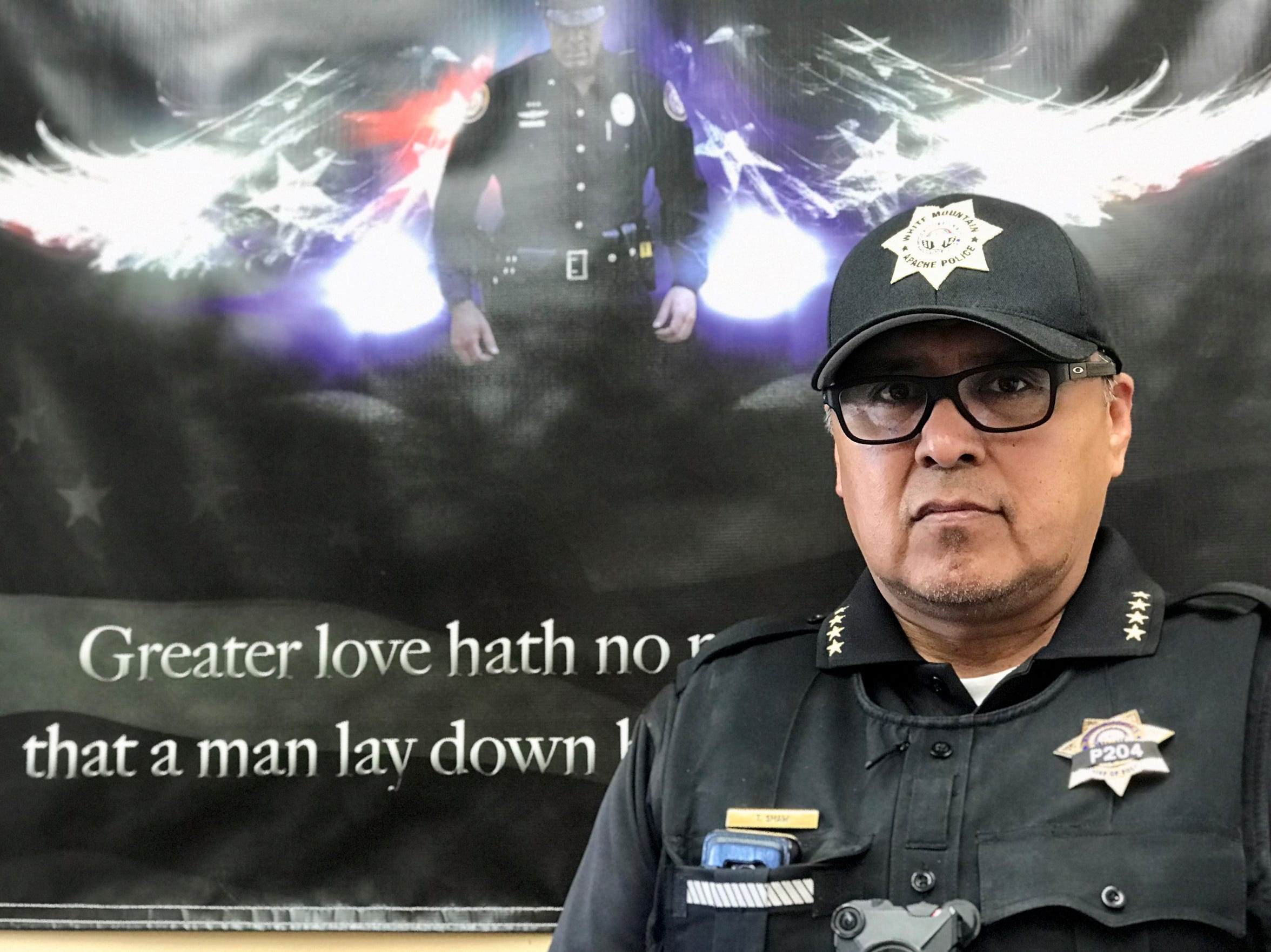 White Mountain Apache Police Chief Ted Shaw
