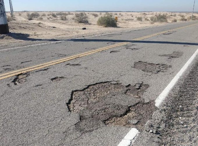 Chronic revenue shortfalls have deferred maintenance on roads all over Arizona, including Avenue B in Yuma County. Here are a few examples.