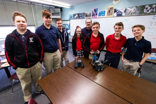 This year, New Life Christian Academy started seventh and eighth grade robotics teams. The eighth grade team qualified for the state competition.