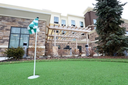 The putting green at the Homewood Suites by Hilton in the Town of Poughkeepsie on February 25, 2020.