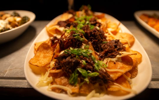 Smoked short rib chips at Revelry in Hershey. Reverly opened in Jan. 2020 inside the former site of Forebay at the Hershey Lodge.