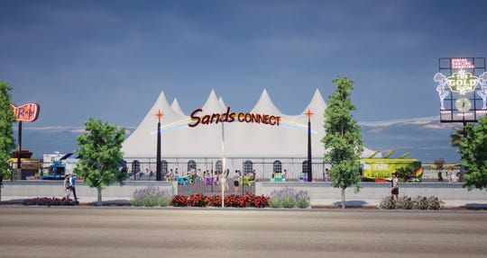 A rendering of the Sands Connect event space that Jacobs Entertainment is adding to the Reno Neon Line.