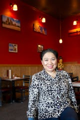 Owner Vichuda Stine poses for a portrait in her new restaurant at Bangkok Thai Bistro in Salem on Feb. 19, 2020.