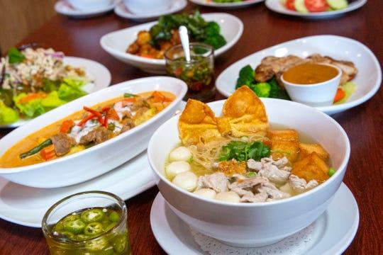 Dishes served at Bangkok Thai Bistro in Salem on Feb. 19, 2020.