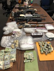 Drugs, cash and guns seized by Salem police in 2019.