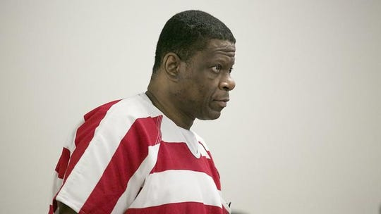 Death row inmate Rodney Reed appears in a Bastrop court in October 2017 for a hearing on his request for a new trial in the 1996 slaying of Stacey Stites.