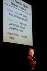 Temple Grandin, a nationally renowned expert on autism, speaks at the Fox Theatre in downtown Springfield on Monday, Feb. 24, 2020.