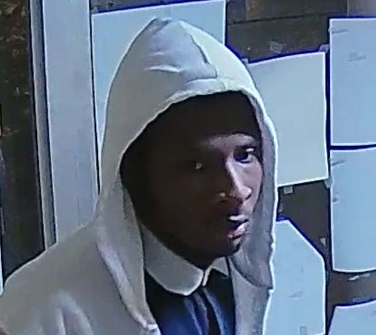 Pictured is a possible suspect in an armed robbery that recently took place at Mary Baldwin University in Staunton.