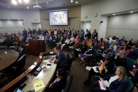At the Leon County Commission meeting, Tuesday, Feb. 25, 2020, there was standing room only as as locals advocated for continued funding for COCA.