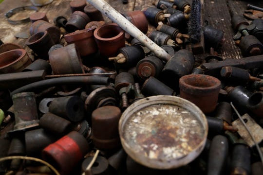 Odds and ends from years worth of working on radiators sit all around Henry's Radiator Shop.