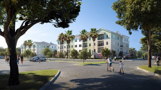 A rendering of a proposed development in Stuart.