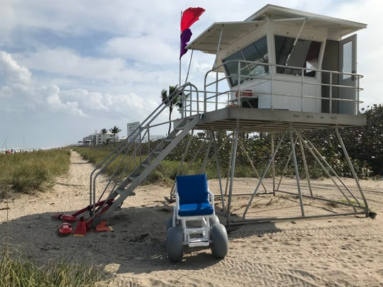 Ocean Rescue recently purchased four all-terrain beach wheelchairs for all its guarded beaches in Martin County.