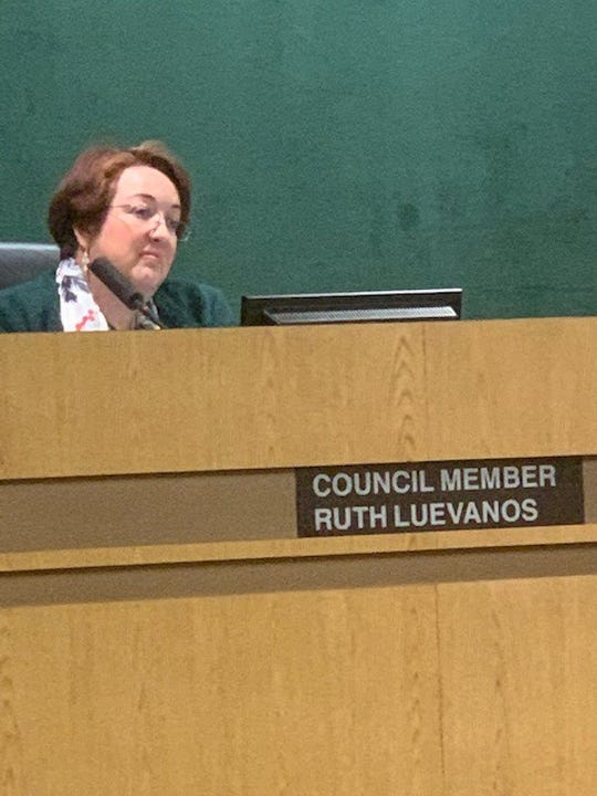 """Simi Valley City Council member Ruth Luevanos said after the council's meeting Monday night she's """"cautiously relieved"""" a campaign to recall her has been suspended at least temporarily."""