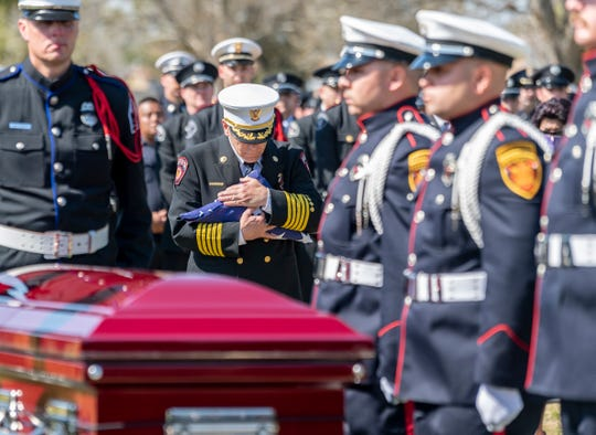 Firefighters from across California came to Delano to pay their respects to fallen Captain Ramon Figueroa on Tuesday, February 25, 2020.