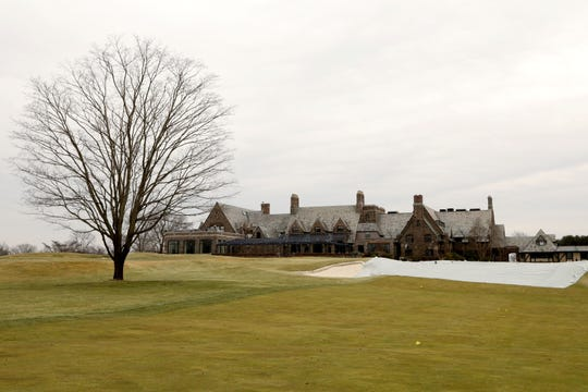 Looking at the clubhouse from 18th fairway at Winged Foot Golf Club in Mamaroneck Feb. 25, 2020 as preparations for the 2020 U.S. Open are underway.