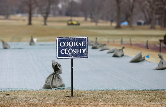 The course is closed at Winged Foot Golf Club in Mamaroneck Feb. 25, 2020 as preparations are underway for the U.S. Open.