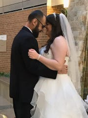 Gus and Rachel Jimenez married at Wilmington Hospital on Sunday. The wedding was planned in three days, since Gus has been diagnosed with a rare and aggressive form of cancer.