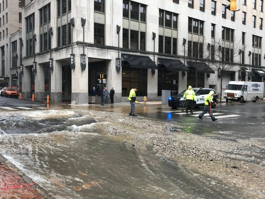 Orange Street between 10th and 11th streets in Wilmington is closed due to a water main break that is partially flooding the road, city officials said.
