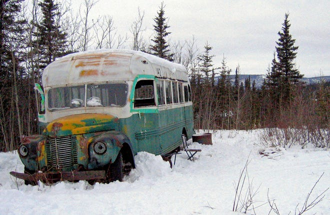 """The abandoned bus where Christopher McCandless starved to death in 1992 near Healy, Alaska, has been removed. The state's Department of Natural Resources is negotiating with the University of Alaska's Museum of the North to display the bus, which was popularized by the book and movie """"Into the Wild."""""""