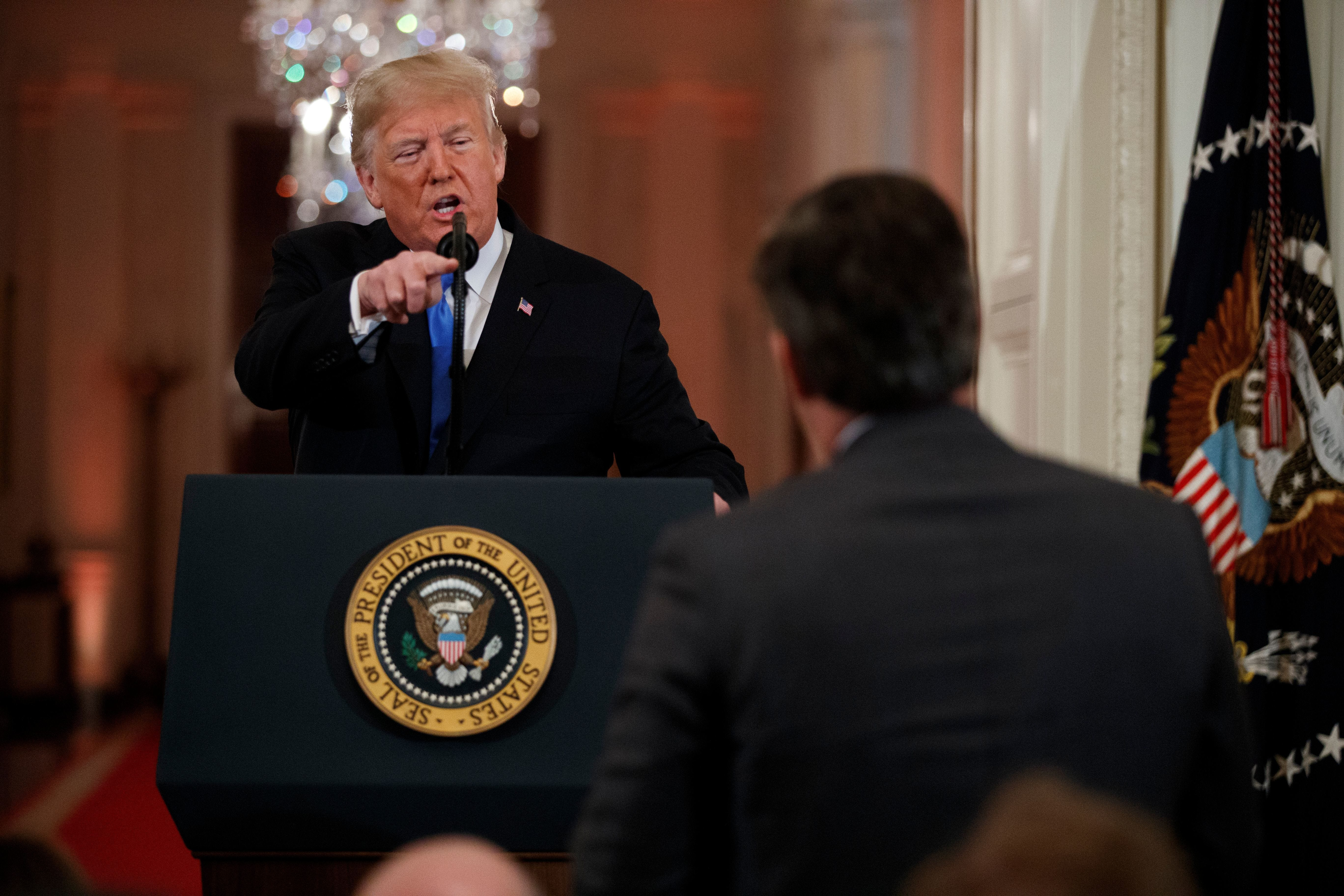 Trump squabbles with CNN s Jim Acosta over Russia coverage during news conference in India
