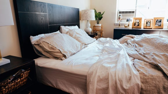Brooklinen sheets give you that crisp, hotel bed feel in your own home.