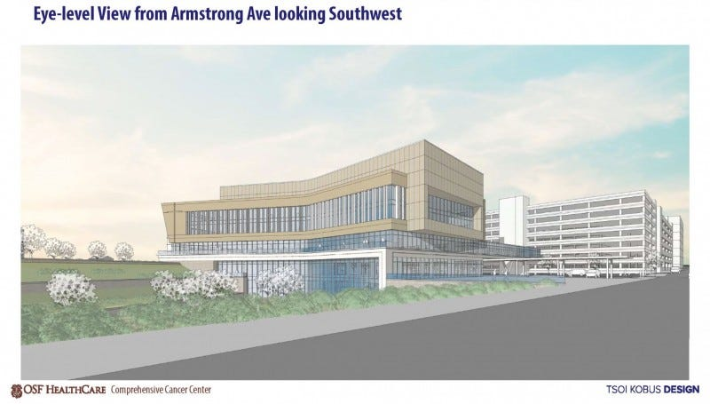 A $237M cancer care center offering proton-beam therapy is coming to Illinois