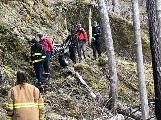 Crews rescue a runner who broke his ankle Friday in a remote area of Olympic National Park. The runner said he had to crawl for hours to get a cellphone signal and call 911.