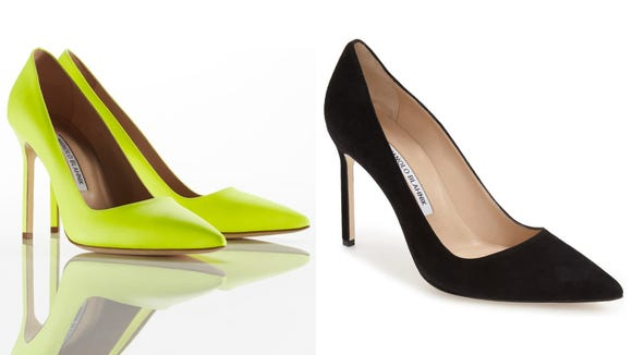 Upgrade your outfit with a pair of the Manolo Blahnik BB Pointy Toe Pumps.