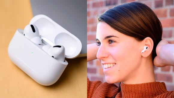 Listen to tunes anywhere with the wireless Apple Airpods Pro.