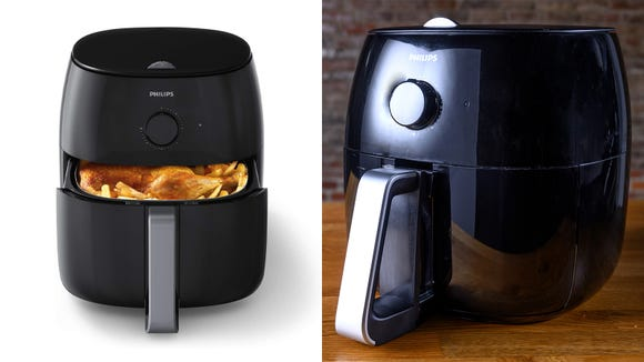 Easily make crispy fries or veggies with the Philips Airfryer XXL.