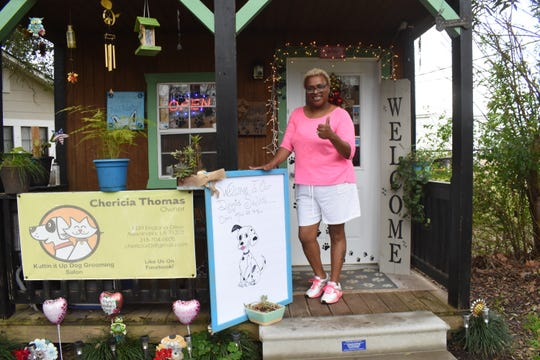 Chericia Thomas, owner of Kuttin It Up Dog Grooming Salon, located on England Drive. Thomas started the business in 2012.