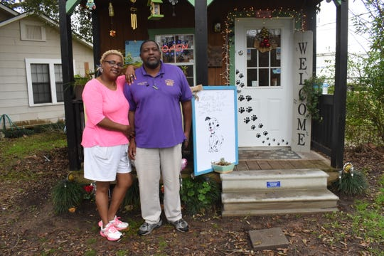 Chericia Thomas, owner of Kuttin It Up Dog Grooming Salon, with her husband and biggest supporter, Wayne Thomas. Thomas started the dog grooming business in 2012.