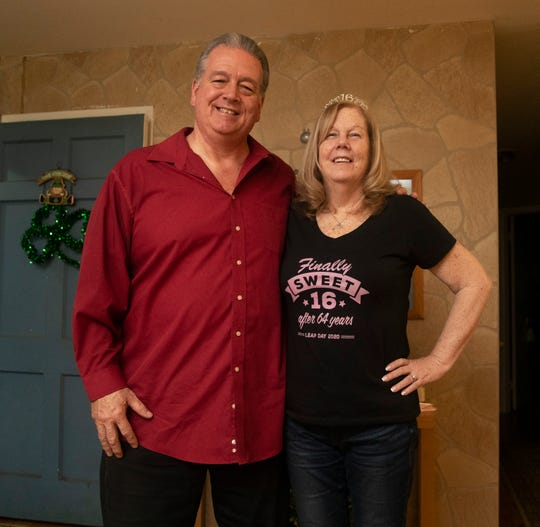 Bill and Kathie Kinder in their Brick home.
