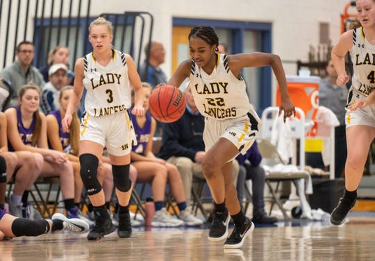 St. John Vianney played St. Rose in a Shore Conference Tournament girls basketball semifinal  game played at RWJBarnabas Health Arena in Toms River on Tuesday, February 25, 2020. / Russ DeSantis for the Asbury Park Press