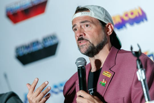 Writer and director Kevin Smith, pictured at Power-Con in 2019.