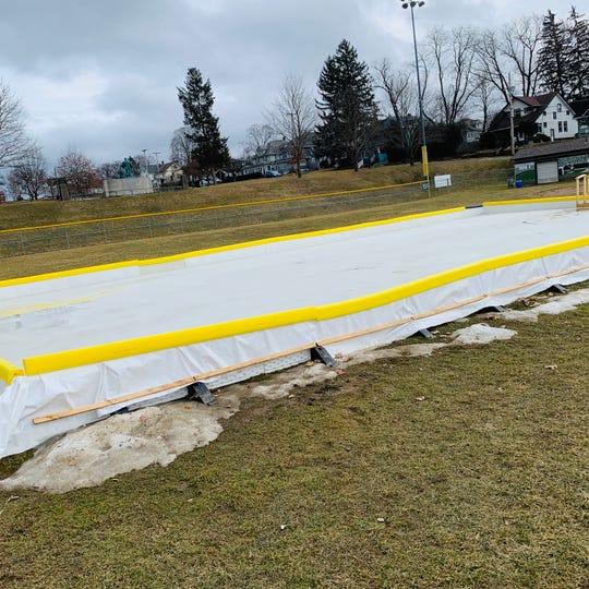 The small skating rink at Recreation Park in Binghamton. Mayor Richard David said it will be expanded.