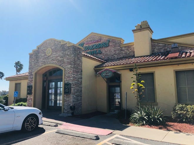 Romano's Macaroni Grill, 5133 S. Padre Island Dr., closed Tuesday in Corpus Christi.