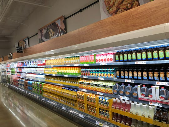 Lidl in Cherry Hill features dairy items, deli meats and produce on the first aisle of the store.