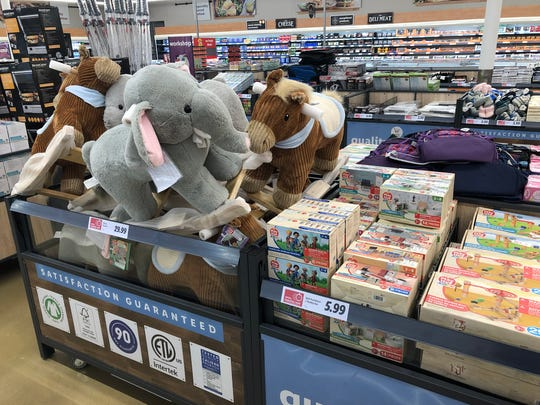 Toys, including Lidl's private label merchandise, are among a wide selection of non-food items at the store.