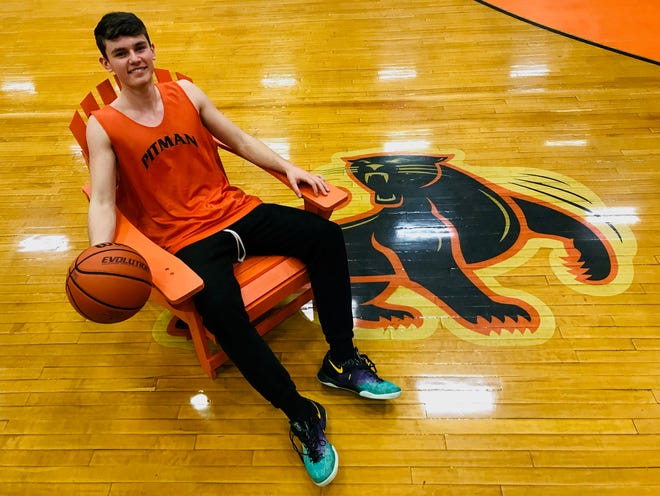 Pitman senior Rob Petersen broke a bone in his hand scoring his 1,000th point earlier this season. He's healthy again and hopes he can lead the Panthers on a long playoff run.
