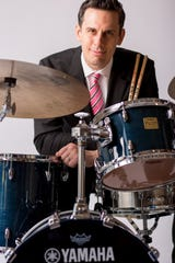 Paul Francis pictured with his drum set