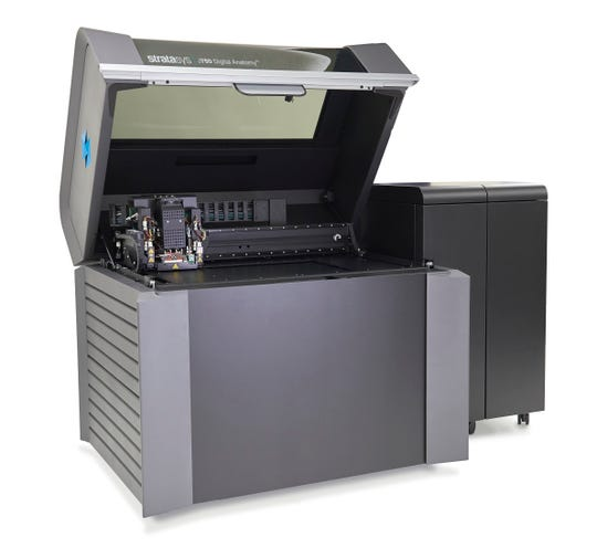 A Stratasys Digital Anatomy 3-D printer like the one being acquired by the University of Iowa.