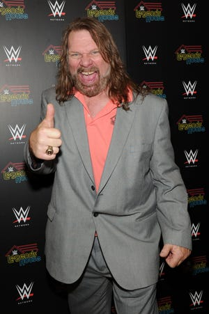 """Hacksaw"" Jim Duggan attends the WWE screening of ""Legends' House"" in New York in 2014."