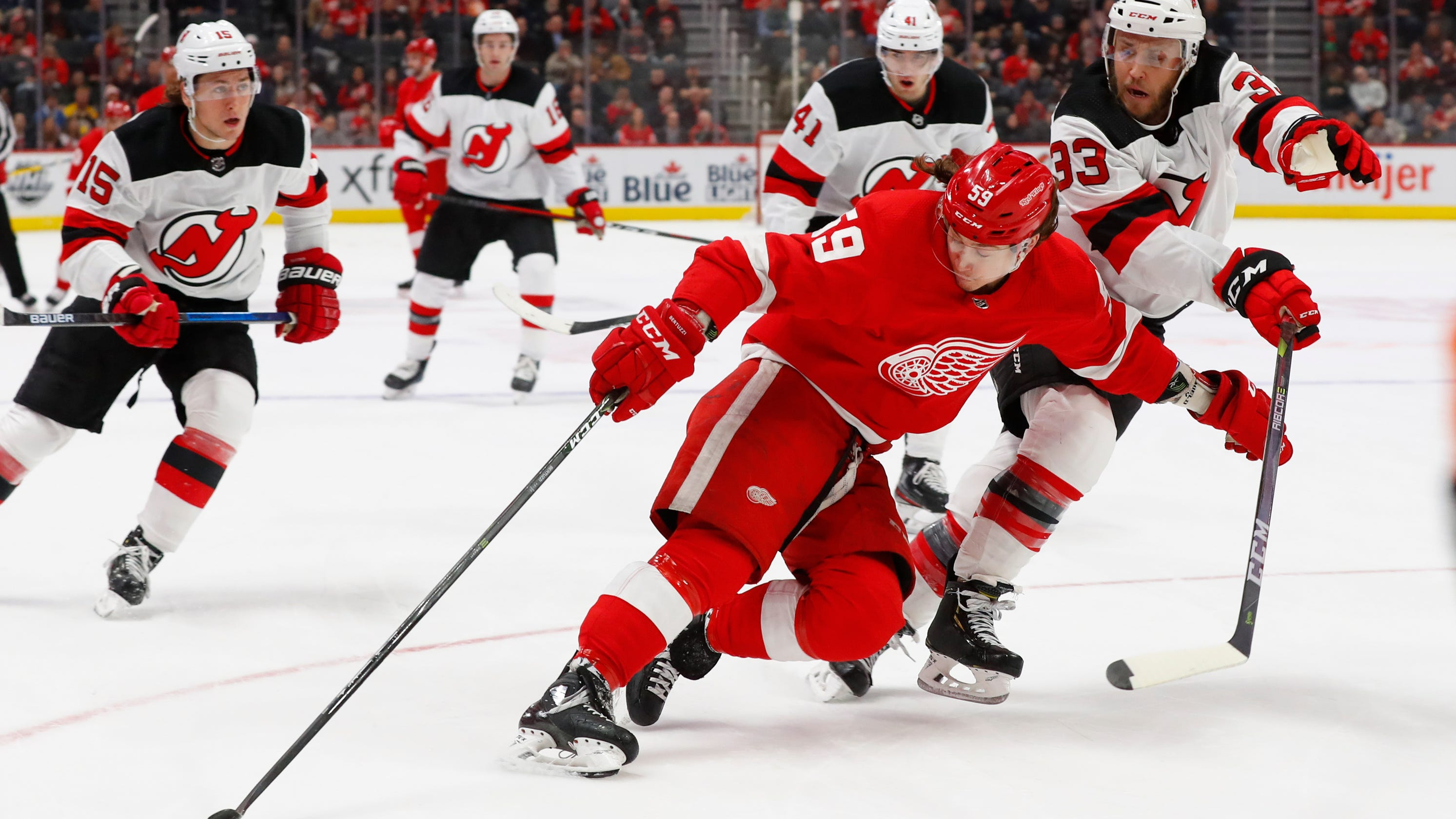Detroit Red Wings have another tough outing vs. New Jersey Devils, 4-1
